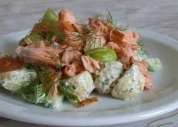 Zivju salāti ar marinētām sēnēm
