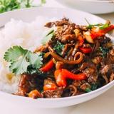 Gaļa ar dārzeņiem taizemiešu gaumē