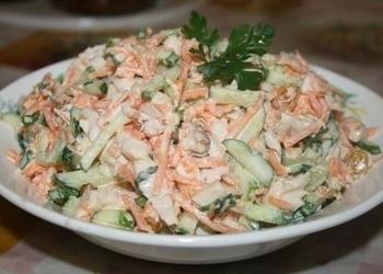 Siera - šķiņķa salāti ar Korejas burkāniem