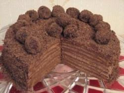 """Šokolādes torte """"Viltotā cielaviņa"""""""