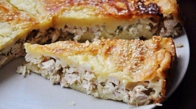 Пироги рецепты духовке с курицей фото