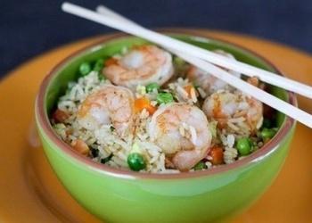 Garneles ar rīsiem