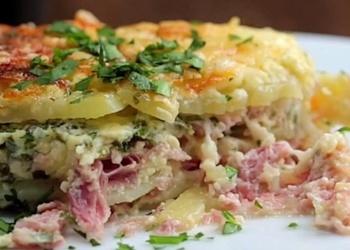Kartupeļi ar šķiņķi