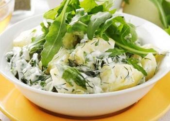 Kartupeļu un skābeņu salāti