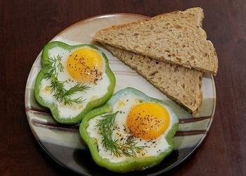 Ceptas olas paprikas gredzenos