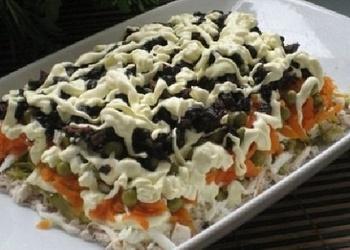 """Vistas filejas salati """"Prāga"""" ar žāvētām plūmēm"""