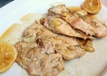 Курица, запеченная с чесноком