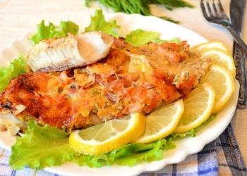 Krāsnī cepta zivs ar sieru