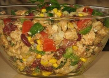 Vistas filejas salāti ar dārzeņiem