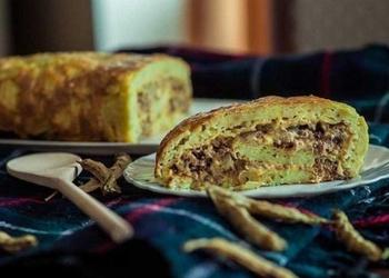Kabaču rulete ar liellopu malto gaļu un sieru