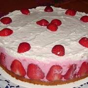 Biezpiena – zemeņu torte