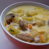 Суп из перловой крупы с боровиками