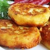 Kartupeļu pankūkas ar biezpienu