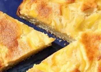 Biezpiena pīrāgs ar ananāsiem