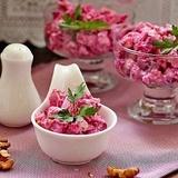 Biešu un vistas filejas salāti
