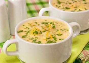 Piena zupa ar sēnēm