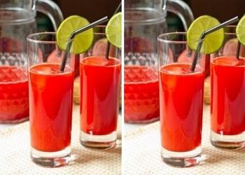 Zemeņu-laima atspirdzinošs dzēriens