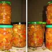Салат с баклажанами и фасолью на зиму