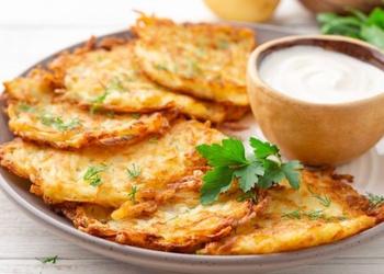 Klasiskās kartupeļu pankūkas