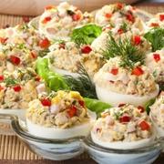 25 вариантов начинки для фаршированных яиц