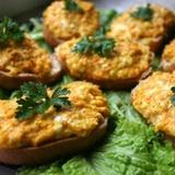 Karstmaizītes ar burkāniem, sieru un ķiplokiem