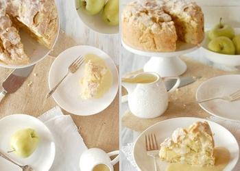 Īru ābolu pīrāgs ar vaniļas mērci
