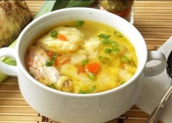 Kartupeļu zupa ar lasi