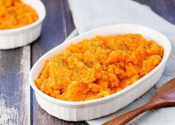 Kartupeļu biezenis ar burkāniem