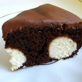 Šokolādes kūka ar biezpiena bumbiņām