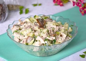 Vistas filejas salāti sēnēm