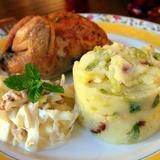 Ziemīgs kartupeļu biezenis ar Briseles kāpostiem