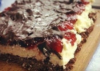 Ātrā auzu pārslu cepumu – ievārījuma kūka
