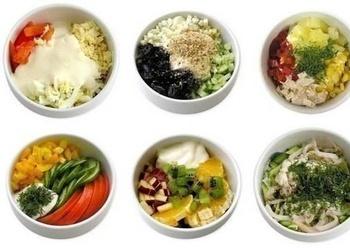 Sešas mini salātu receptes