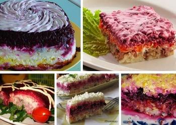 Siļķe kažokā - 5 salātu receptes