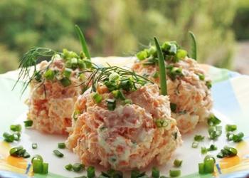 Burkānu salāti ar biezpienu
