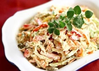 Vistas filejas, sēņu un paprikas salāti