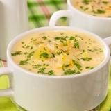 Kartupeļu un sēņu zupa ar pienu