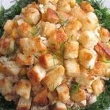 Mencu aknu salāti ar grauzdiņiem