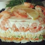 Garneļu salāti ar avokado un olām