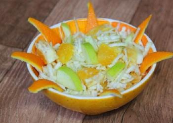 Vieglie apelsīnu salāti skaistai figūrai