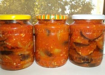 Baklažāni tomātu sulā