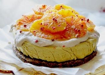 Citrusu kūka ar vaniļas krēmu