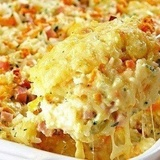 Rīsu sacepums ar šķiņķi un sieru