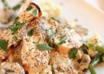 Курица-гриль в соусе из зернистой горчицы
