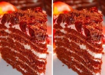 Iebiezinātā piena-šokolādes torte