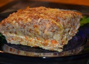 Maltās gaļas un griķu sacepums