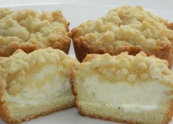 Тертые кексы с начинкoй