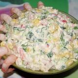 "Krabju nūjiņu salāti ar garnelēm ""Neptūns"""