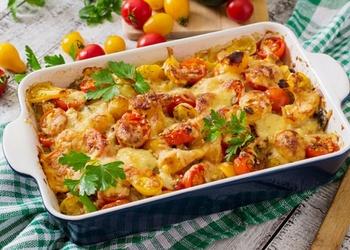 Kartupeļu - sēņu sacepums