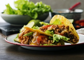 Taco ar malto gaļu